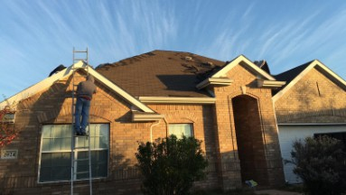 Roof Replacement in Forney, TX Before